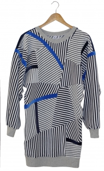 SUPERSTRIPE DRESS - Blue Line